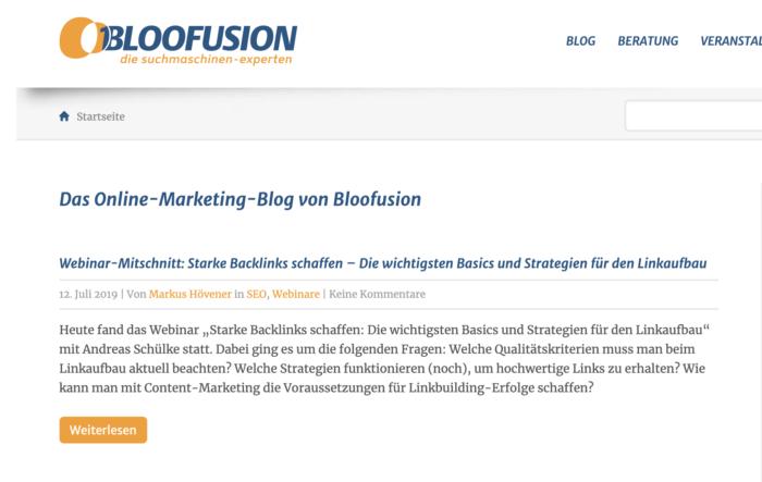 Bloofusion Blog