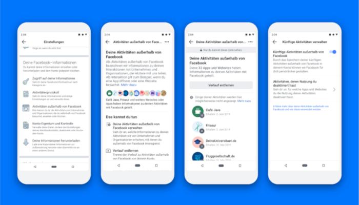 Entkopplung des Profils mit Aktivitäten außerhalb von Facebook