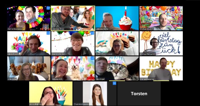 Screen eines Meetings bei Zoom