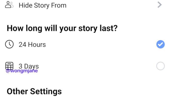 Neue Settings für Facebook Stories