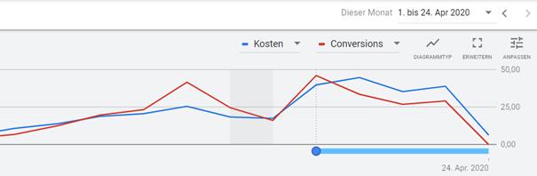 Screenshot Conversion Delay Google Ads