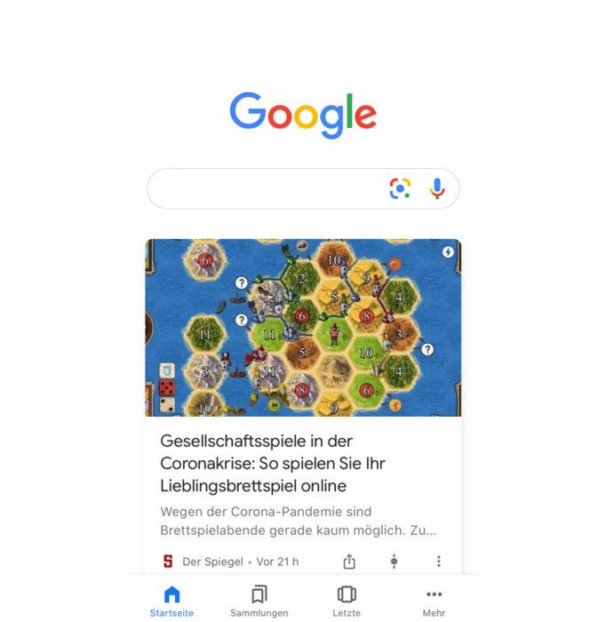 Screenshot einer Google Discover Anzeige