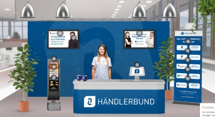Der virtuelle Stand des Händlerbundes beim eCommerce Campus 2020