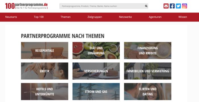 Strahlt im neuen Design - 100partnerprogramme.de