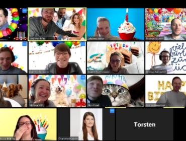 Screenshot eines Meetings bei Zoom