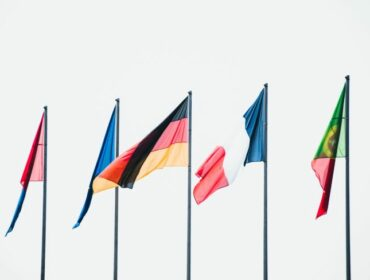 Bild verschiedene europäische Flaggen