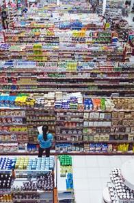 Bild eines unübersichtlichen Einkaufsladens