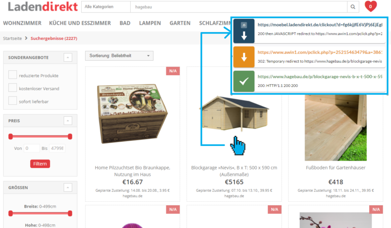 Screenshot Ladendirekt.de