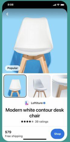 Screenshot einer Pinterest Produktbewertung