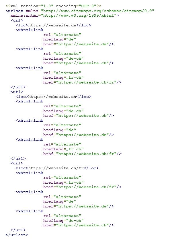 Screenshot Code hreflang update