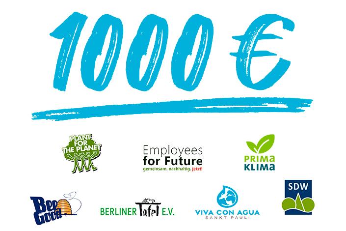Die Logos der Unternehmen mit Spenden
