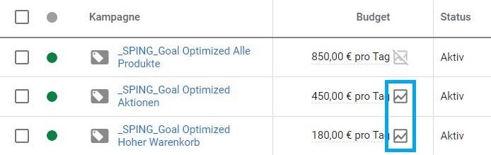 Screenshot Budgetsimulator
