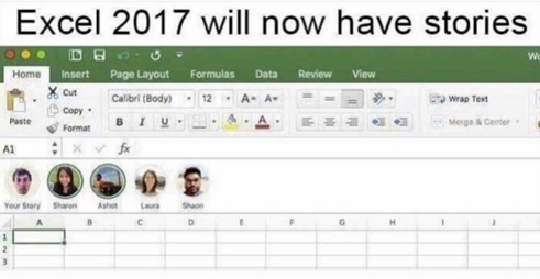 Meme zu Stories für Excel
