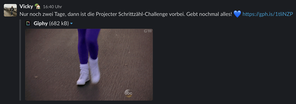 Screenshot Projecter Schrittzähl-Challenge 4