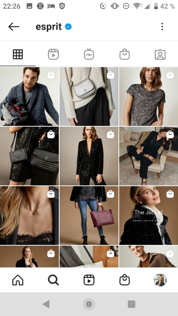 Screenshot 1 der Shopping Markierungen in Instagram