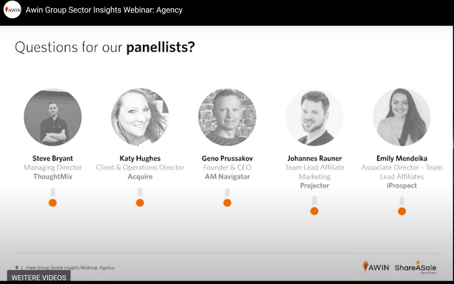 Bild Webinar von Awin mit Agenturen und Einblicke zum aktuellen Stand von Affiliate Marketing
