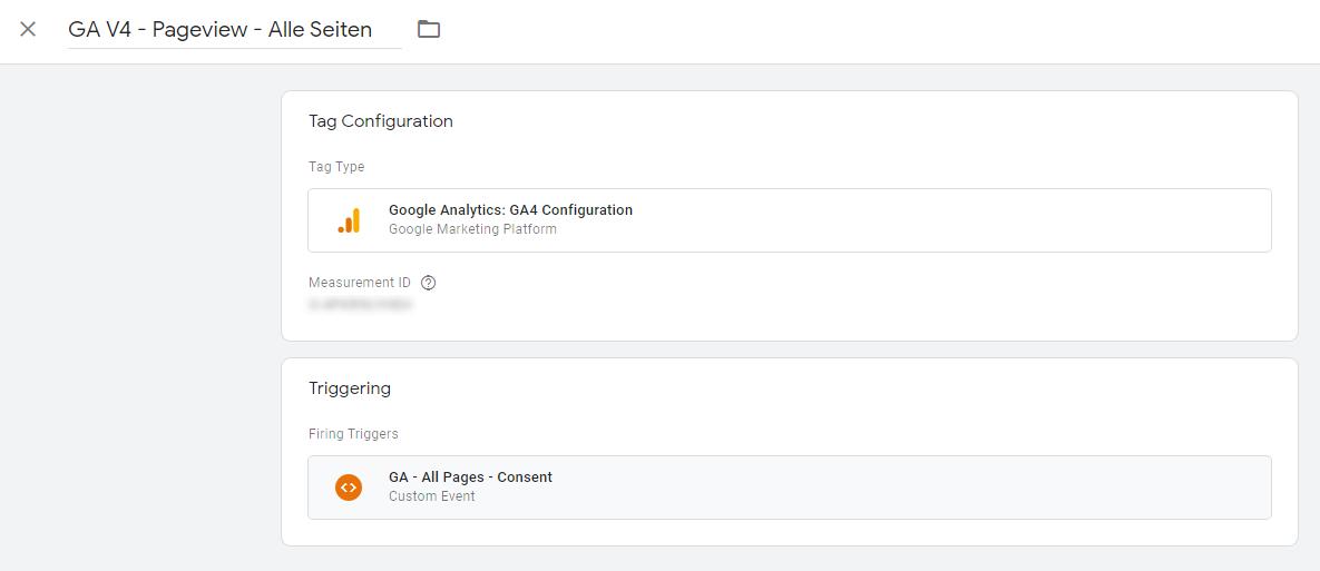 Google Analytics 4 Konfigurations-Tag