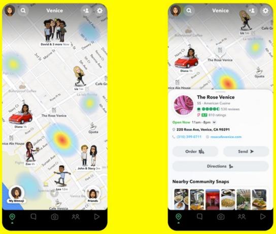 Bild Snapchat Snap Maps