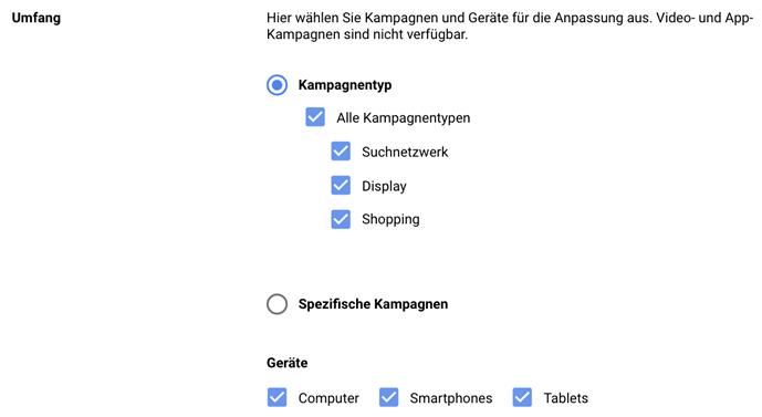 Screenshot Google Ads Konto 3