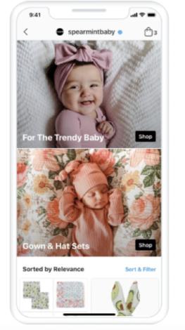 Screenshot Instagram Collections