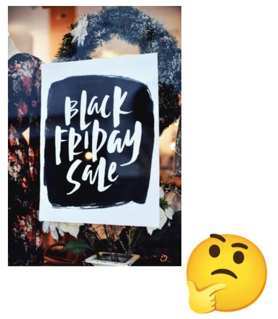 Bild Black Friday im Schaufenster