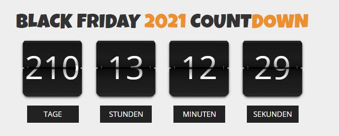 Countdown Black Friday