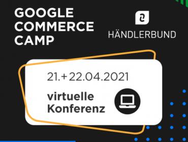 Titelbild Ankündigung Google Commerce Camp 2021