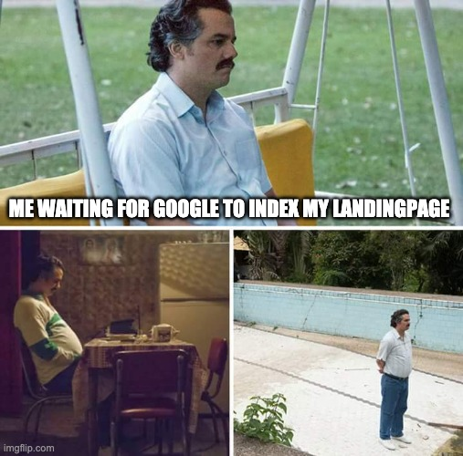 "Meme ""Waiting for Google to index my Landingpage"""