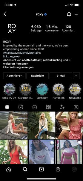 Screenshot Instagram Profil Roxy