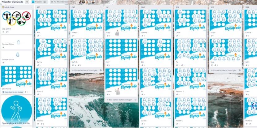 eine Stempelkarte im digitalen Format für die Projecter-Olympiade