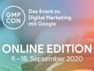 Grafik mit dem Logo der GMP-Con